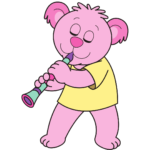 clarinet pink bear png