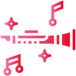 clarinet musical red png